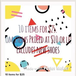Other - 10 items for $25. $10 or under